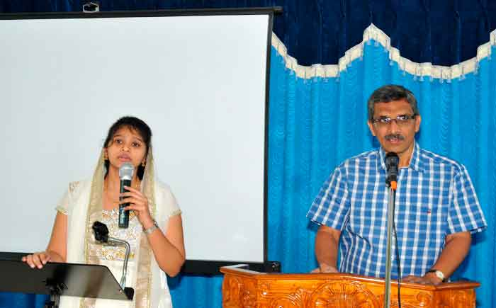 picture of pastor Prasad Cherukuri and translator Dr. Esther Soundharya